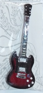 Magnes na lodówkę Gibson SG AC / DC - Angus Young